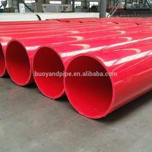 red large diameter UHMWPE plastic pipe