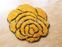 New design Rose shaggy carpet
