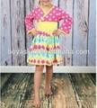 Hot vente mode 2015 vêtements pour bébés filles d'été mignon enfants robe occasionnelsprix dot robe de bébé en coton filles robe