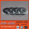 China galvanizado de alta quanlity preço baixo carbono aço zincado plain washer plana