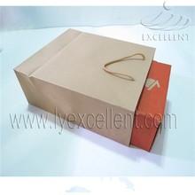 shoe box packing kraft paper bag