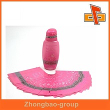 Customize goods best seller bottle labels for care solution, hair oil bottle label for women made in China