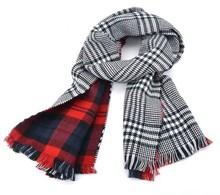 Fashion Warm Big Winter Elegant cashmere plaid scarf SV010781