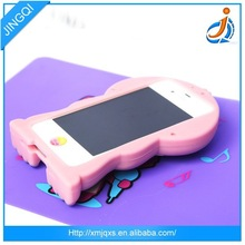 Colorful cute low price 3d animal silicone case s4