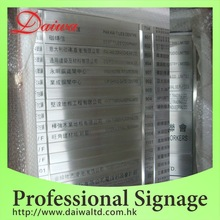 Building Stainless-Steel Etching Directory Sign