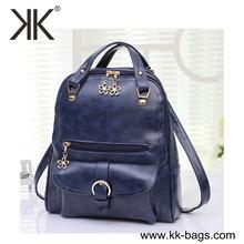 Factory price oil leather practical patterns ladies Vintage Women backpacks teenage girl school bags for teenagers