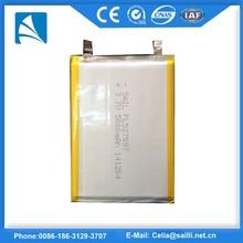 lipo Battery 3.7v 5000mAh Lithium polymer Battery , 3.7v5000mAh li polymer battery