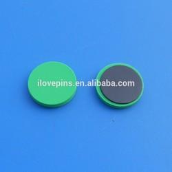blank round green color soft pvc fridge magnet