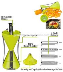 2015New Arrival 4-Blade Vegetable Spiral Slicer