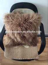 Wool Pillow Tibetan Lamb Decorative Lambskin Vintage Chair Cushions