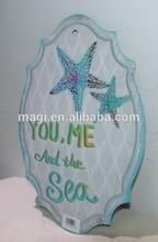 Vintage Starfish Letter Wall Tin Metal Sign