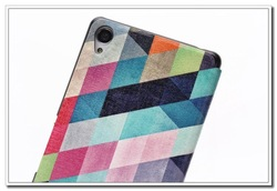 Colorful Painting Leather Wallet Phone Case Cover For Sony Xperia Z3