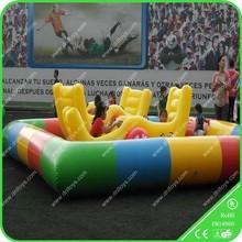 PVC Tarpaulin Yellow and Blue Inflatable Basketball Hoop Pool