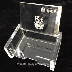 2015 Fancy Popular acrylic business card holder, place card holder