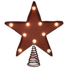 LED Metal christmas star tree topper