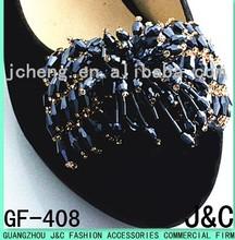 2015 gun metal plated color woman shoe accessory/shoe ornament/shoe bow