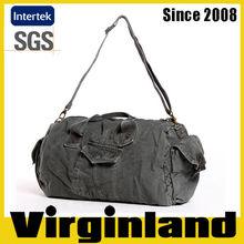 2015 new Virginland 100% cotton vintage washed canvas duffel bag canvas travel bag