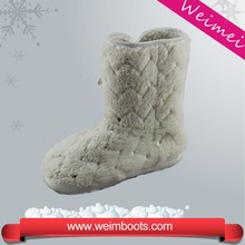 wholesale winter warm boots with button snow boots women white