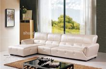 New classic white color l shape leather sofa Living Room Furniture Sofa Leather Sofa Set