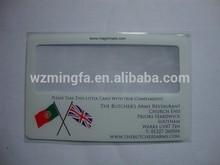 plastic magnifier card magnifier
