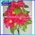 39 cm longitud de venta al por mayor flores artificiales 10 cabezas de flor de la margarita ramo de la boda decorativo
