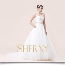Sherny Bridals New Model With High Quality Crystal Rhinestone Belt For Wedding Dress