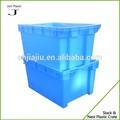 Nido de pila de almacenamiento de plástico cajas para frutas y verduras