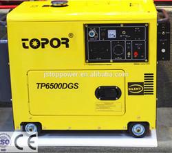 TOPOR 3KW /5KW/6KW/7KW silent diesel generator with ATS