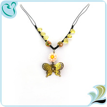 Fashionable Butterful and Flower Coral Beads Necklaces Jewelry for Ladies