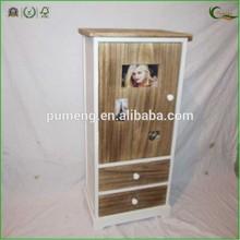 Vintage Storage Cabinet with Photo Frame