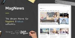Professional Magazine News & Blog WP website design with high quality