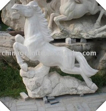 hand carved natural stone horse carvings/statues for decoration