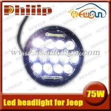 7 Inch 75W bright Hi/Low Beam Car LED Headlight Bulb for JEEP Wrangler Hummer Camaro FJ Cruiser auto drving fog parking light