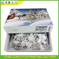 500 pieces custom jigsaw puzzles toys