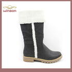 china wholesale shoes 2015 fashion design women flat boots with fur