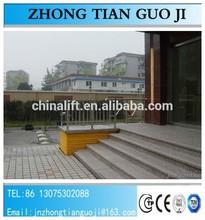 hydraulic manual elevators disabled/250kg handicapped man lift/small elevators homes/handicapped equipment