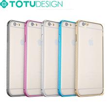 TOTU Multicolor Bright Shiny Diamond Aluminum Metal Bumper Case for iPhone 6