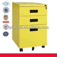movable metal file cabinet under desk