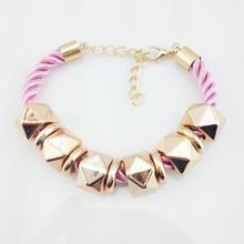 Handmade Custom Rivet Meaning Braided Rope Bracelets