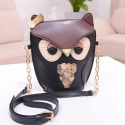 Vast sale stylish women's owl bag fashion design military shoulder bag