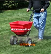 lawn fertilizer and garden grass seed spreader