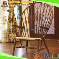 (SP-EC709) Spain high class hotel peacock wood chair for sale