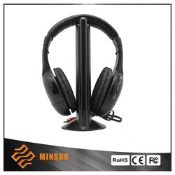 2015 High level black high quality wireless stereo headphone