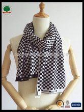 Fashionable stylish knit wool scarf pattern