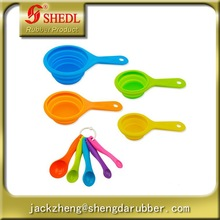 Durable & Accurat Silicone Measuring Cups & Spoon Set to Measure Dry and Liquid Ingredients For Kitchen Cooking Baking