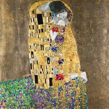 Masterpiece oil painting reproduction the kiss of Gustav Klimt