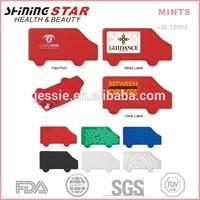 JS-12003 40pcs car-shape breath freshener sugar free mints