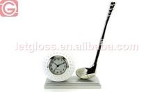OEM zinc alloy golf ball and club unique clock