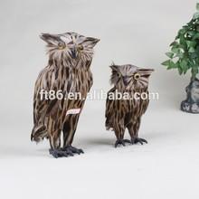Handmade artificial christmas decoration feather birds