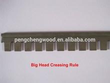 rotary die big head creasing rule, 4pt, straight, curved, different diameter